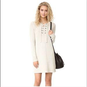 Madewell Lace Up Sweater Dress Off-White XXS